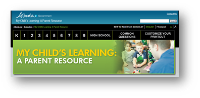 Alberta Education My Child's Learning Parent Resource Link