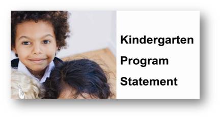 Kindergarten Program Statement Link