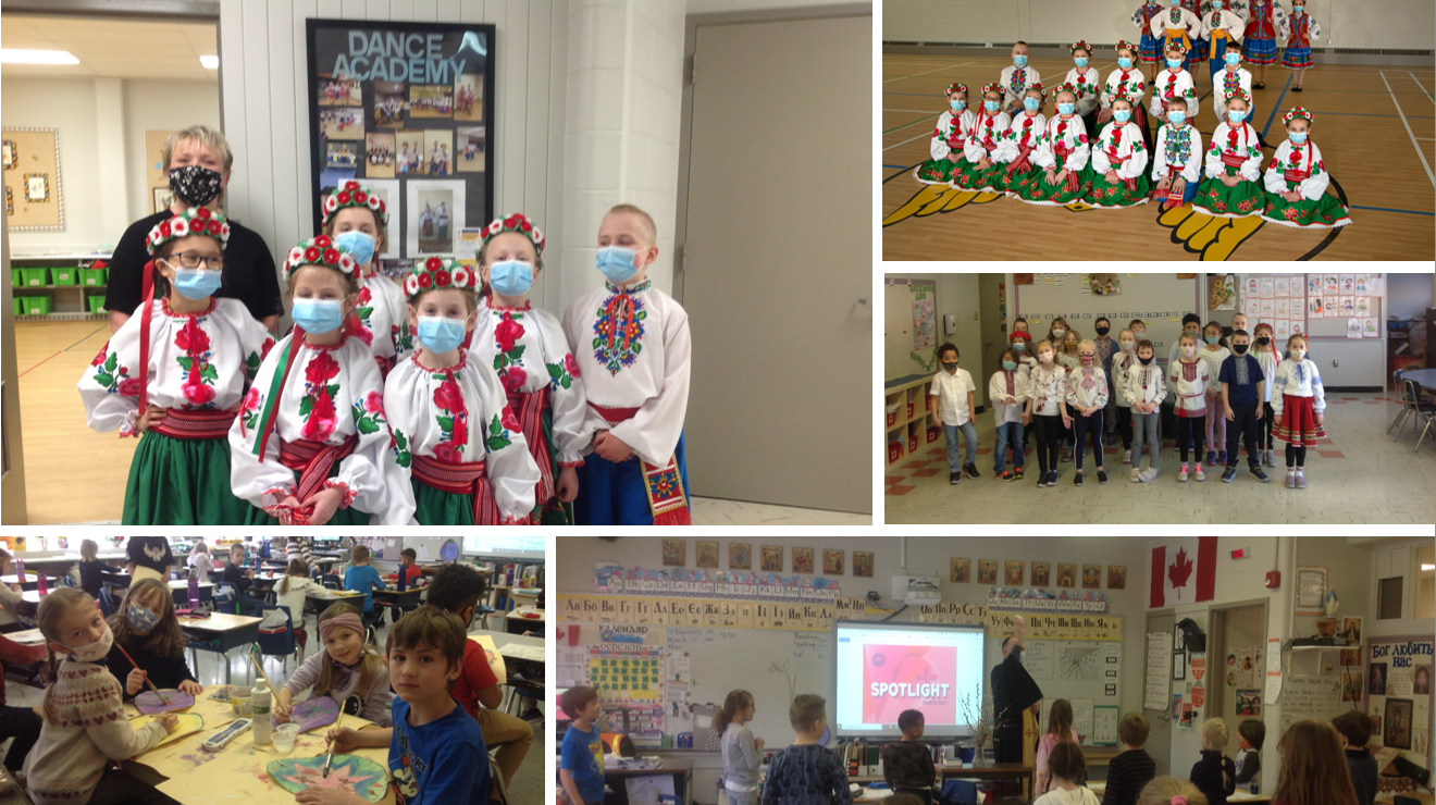 Collage of Students in the Ukrainian Bilingual Program
