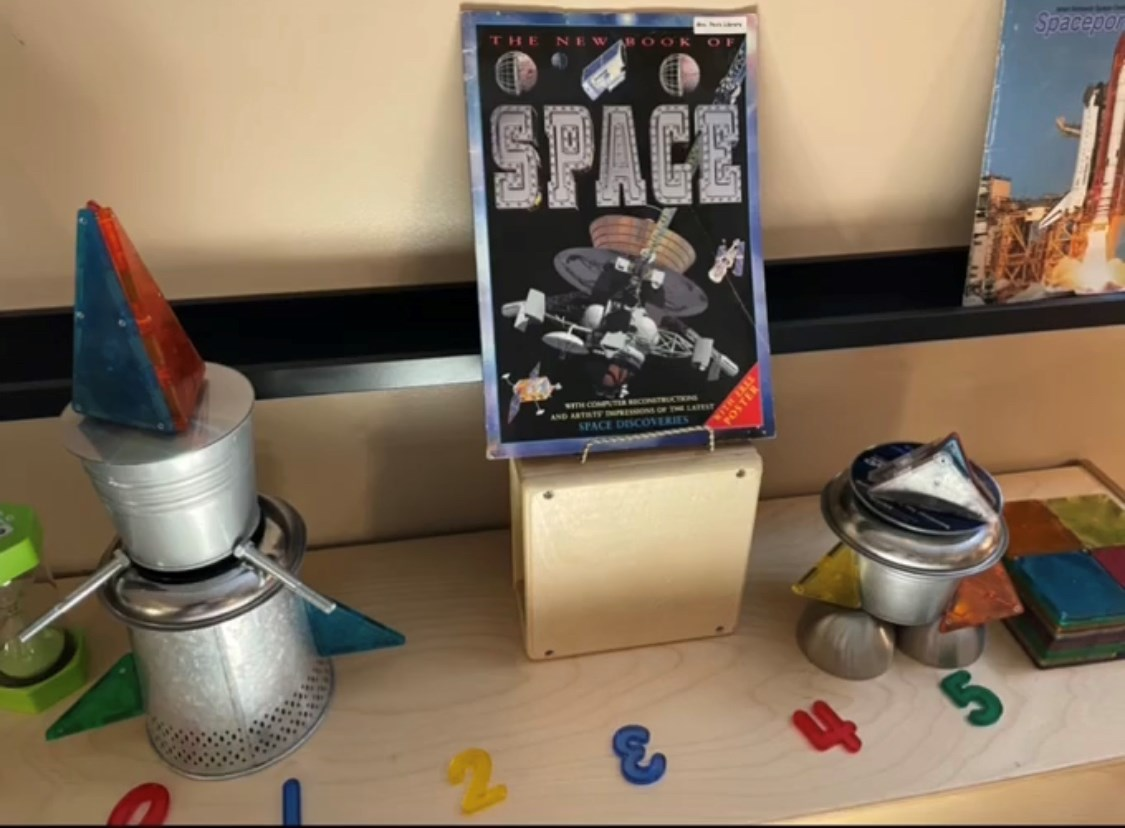An image of a student learning activity about Space.