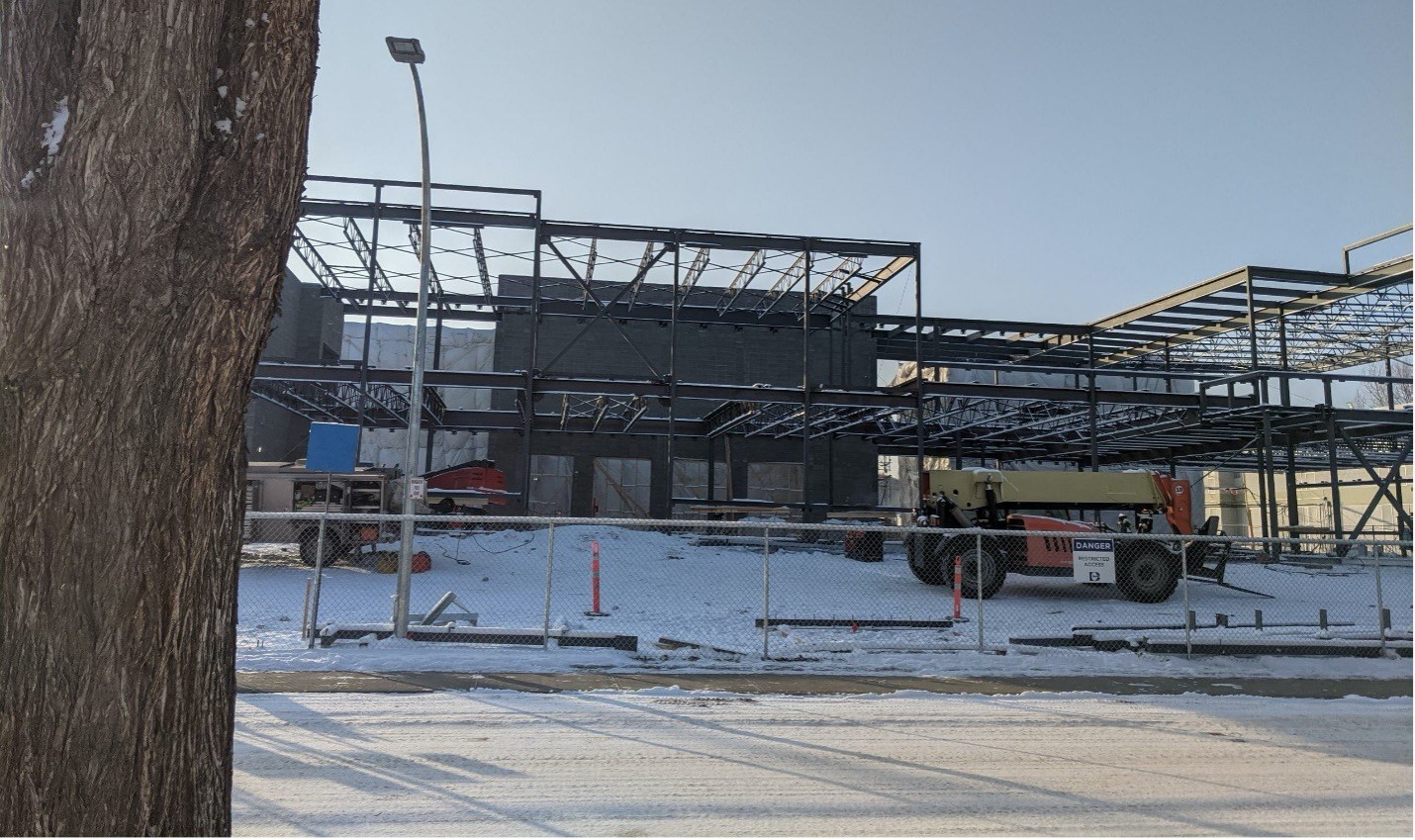 Construction continues on a new K-9 replacement school for Ben Calf Robe.