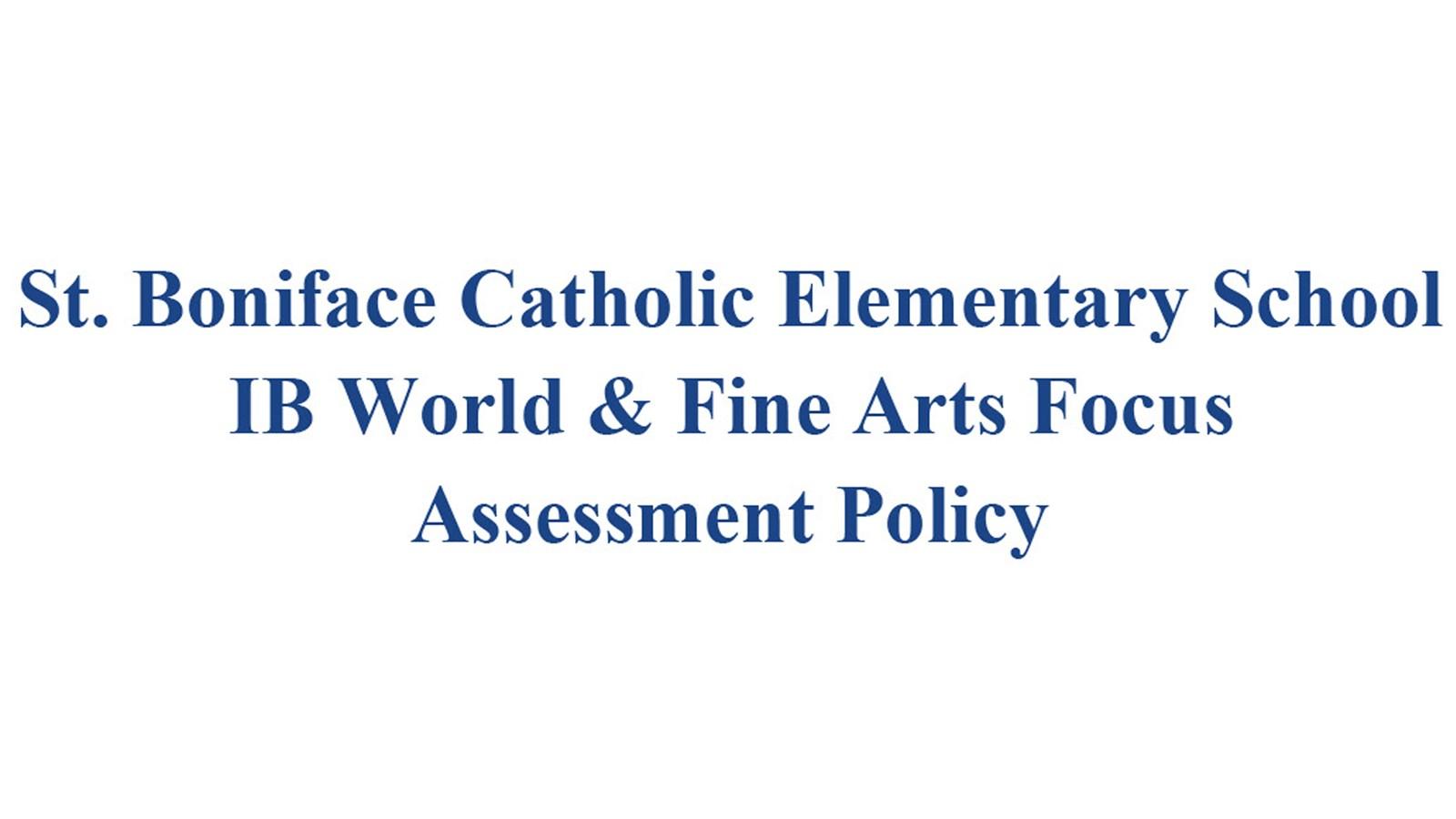 St. Boniface Assessment Policy Banner.jpg